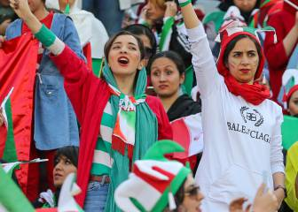 Historic day for female football fans in Iran