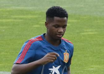 Barcelona teenage sensation Ansu Fati makes Spain debut