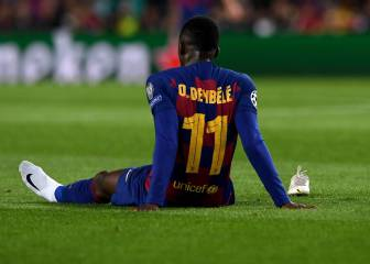Distraught Ousmane Dembélé forced off with injury