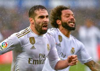 Carvajal puts Madrid home and dry at rainy Mendizorroza