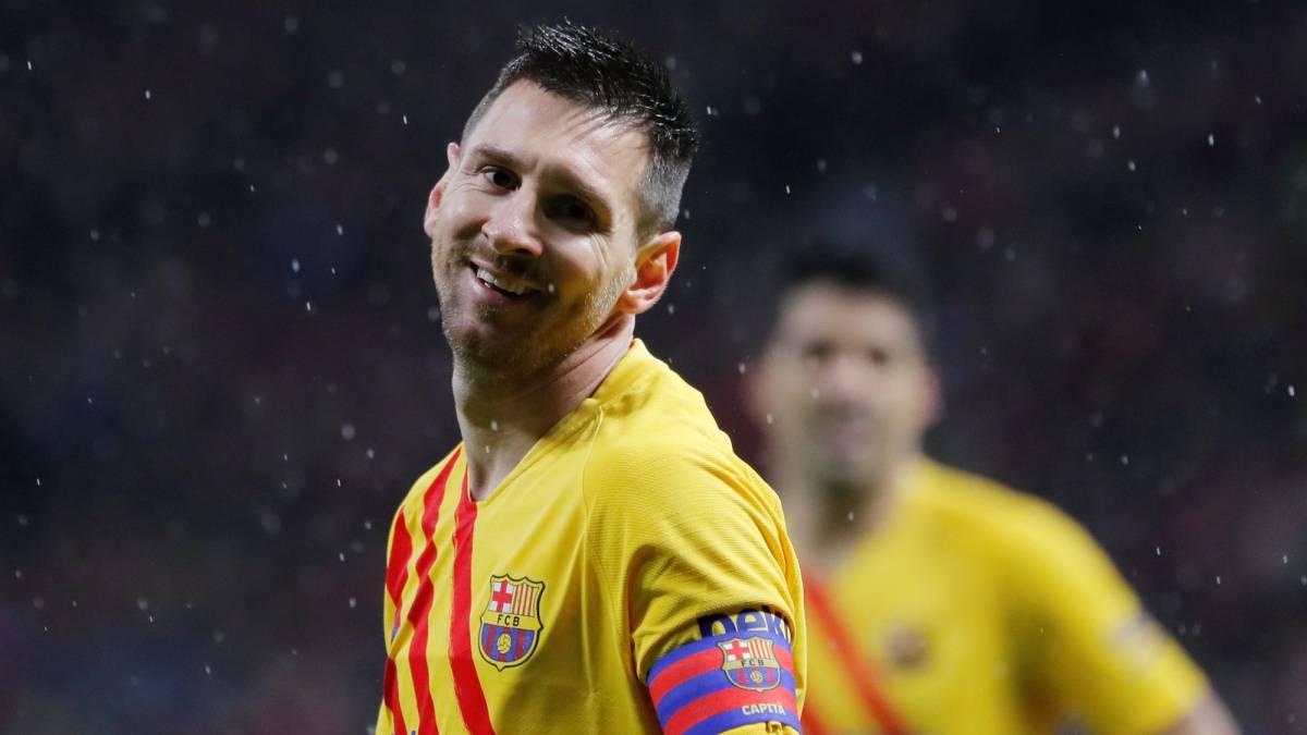 Barcelona s Leo Messi Breaks Atl tico Madrid Hearts AS com