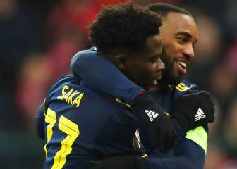 Lacazette and Saka sizzle as Arsenal end top of their group