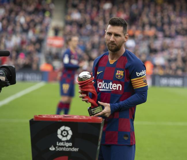 Another player of the month award for Messi.