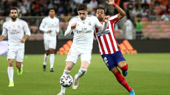 Real Madrid S Valverde Sent Off Against Atletico As Com