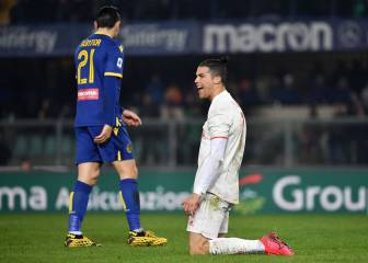 Ronaldo on target as Hellas Verona stun Juventus