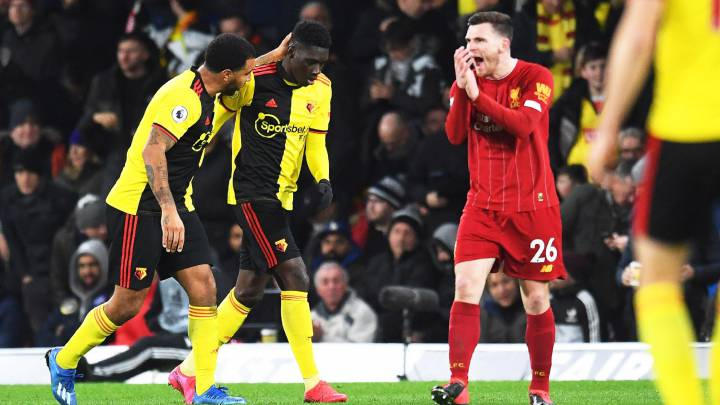 Watford win sees Liverpool unbeaten run come to an end