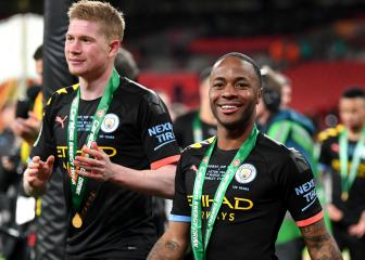 Sterling: Man City 'fully focused' on completing treble