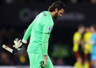 Alisson to miss Atlético showdown with hip injury