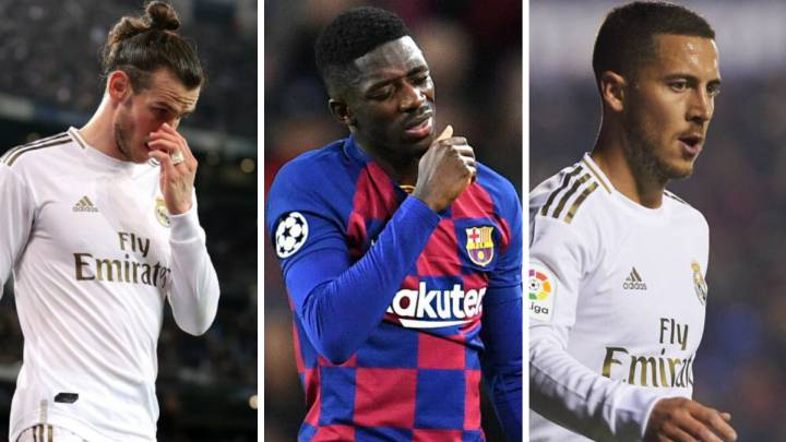 Injuries see Hazard, Dembélé, and Bale's market value tumble