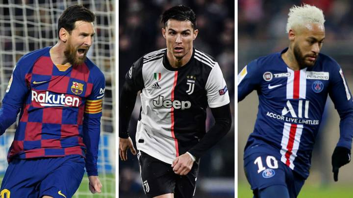 Messi, Cristiano and Neymar: highest paid in world football