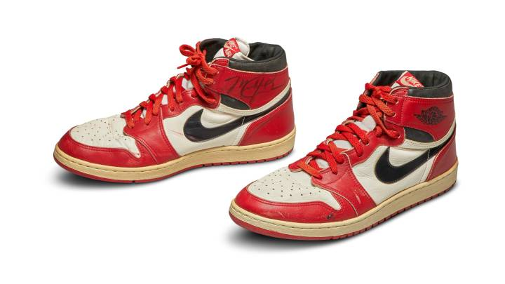 First Air Jordan sneakers sold for record $560,000 at Sotheby's