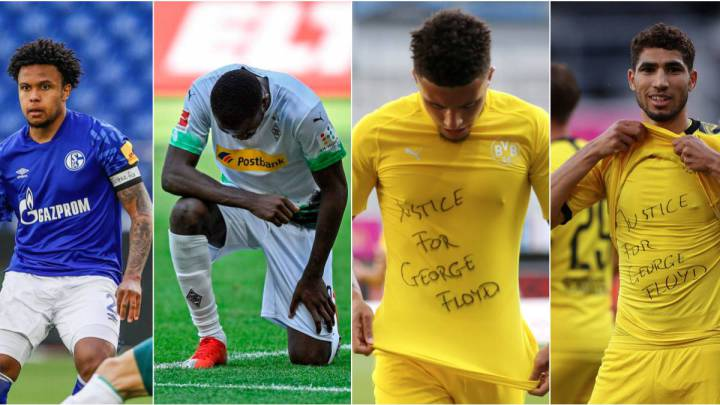 Bundesliga players demand justice for the death of George Floyd