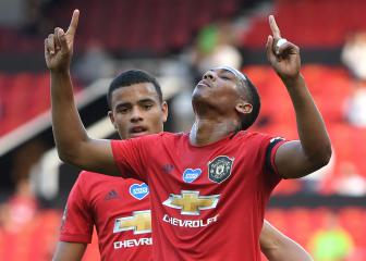 Martial scores Man Utd's first Premier League hat-trick in seven years