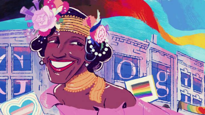 Who is Marsha P. Johnson, celebrated in today's Google doodle?