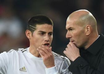 James gets birthday love from Zidane but remains out in the cold