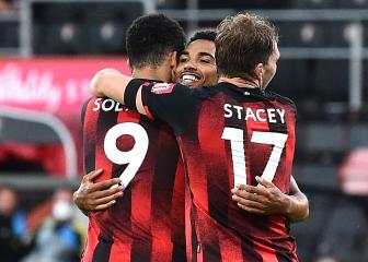 Leicester capitulate as Bournemouth stay alive in relegation scrap