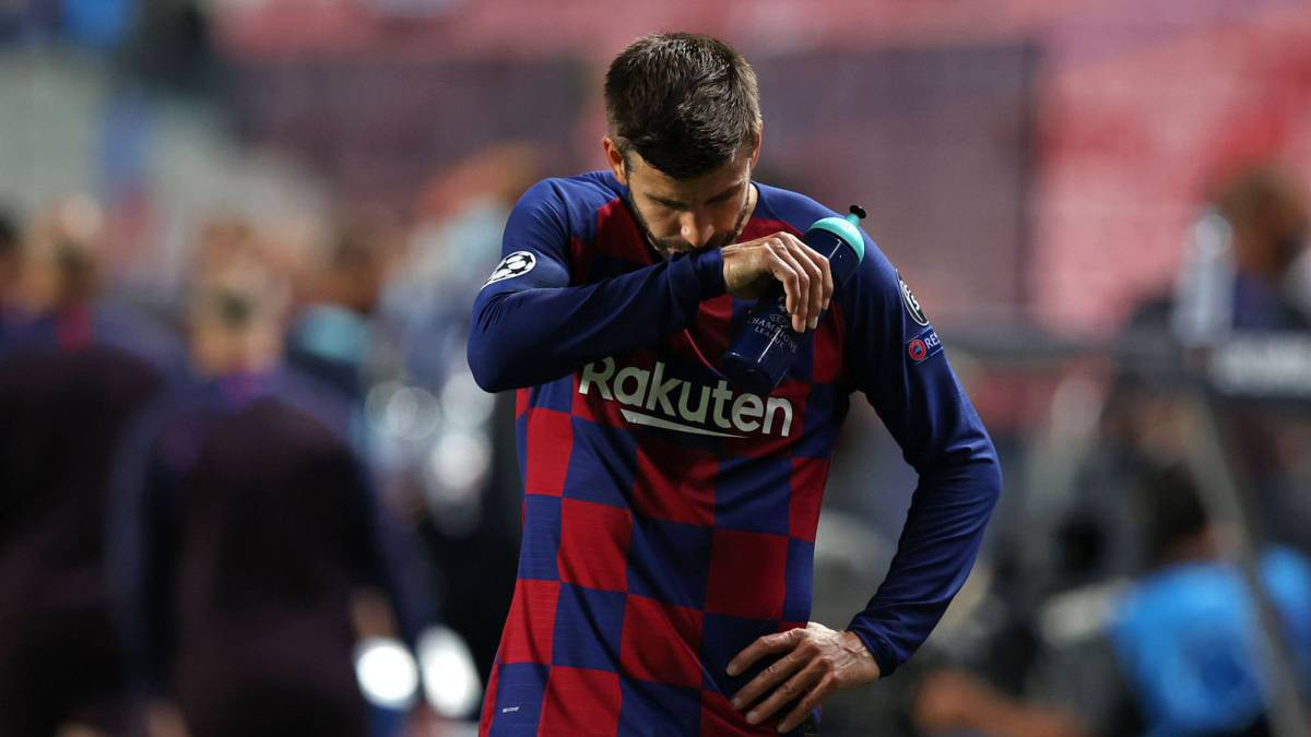 'Shame': Piqué says 'I will be first to step aside' after humiliating Barcelona defeat - AS English