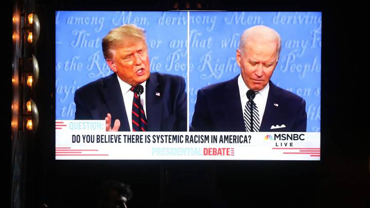 What did Trump say about vote by mail in debate against Biden?