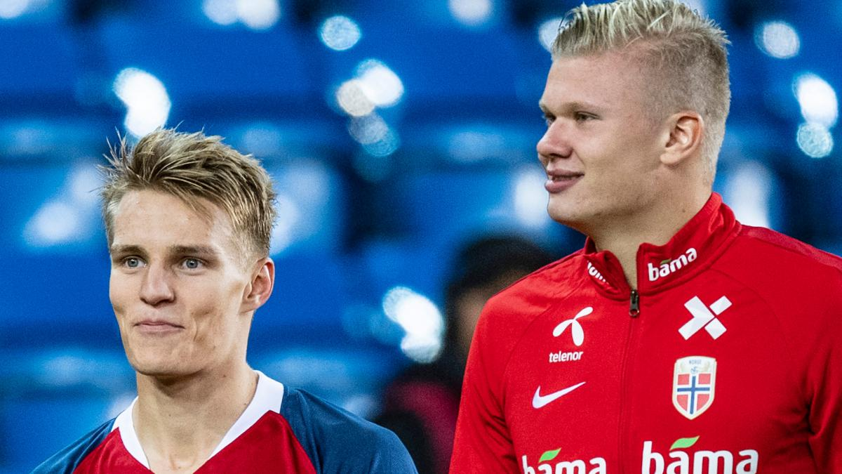 Hat-trick hero Haaland & fellow Norway star Odegaard indulge in mutual praise