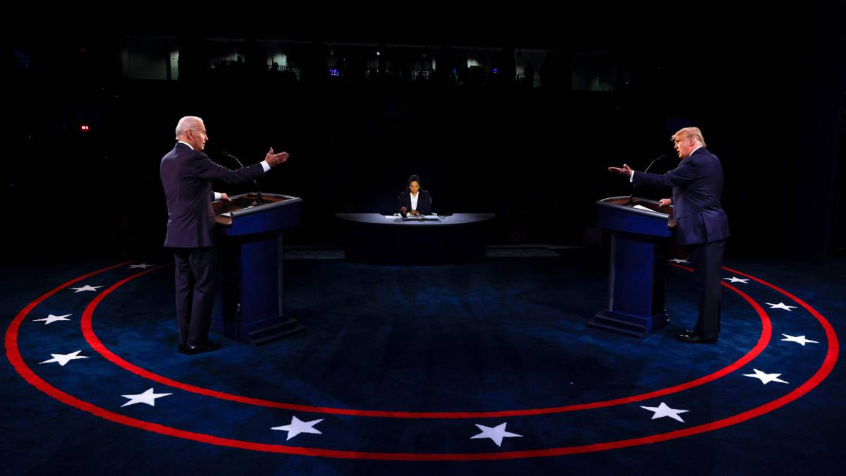 What did Trump and Biden say about North Korea, Russia, China and Iran in the debate?