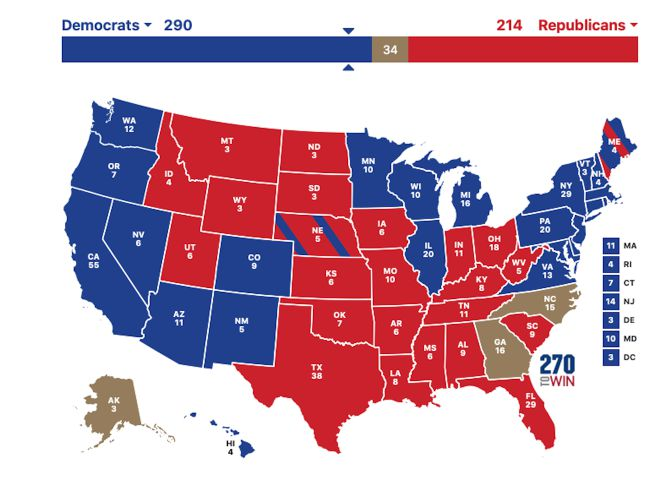 US Presidential Election 2020 by state: Biden vs Trump results map | Biden  wins presidency - AS.com