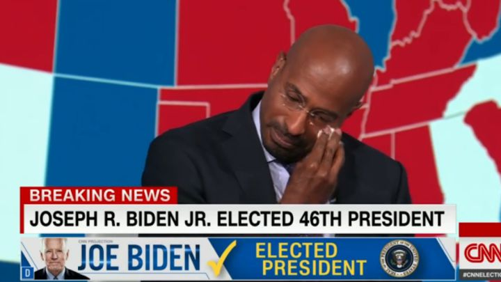 Van Jones brought to tears after Joe Biden wins US election