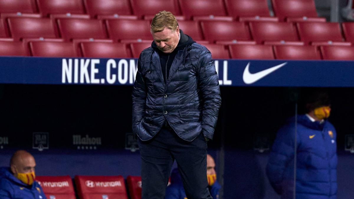 Koeman aghast at 'worrying' defending as Barca confirm Pique 'sprain'