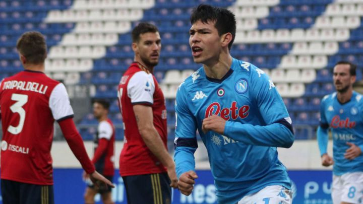 Hirving Lozano starts the year by scoring for Napoli in Serie A