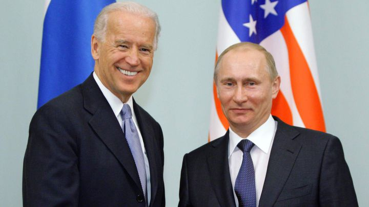 What did Biden and Putin discuss in first presidential call?