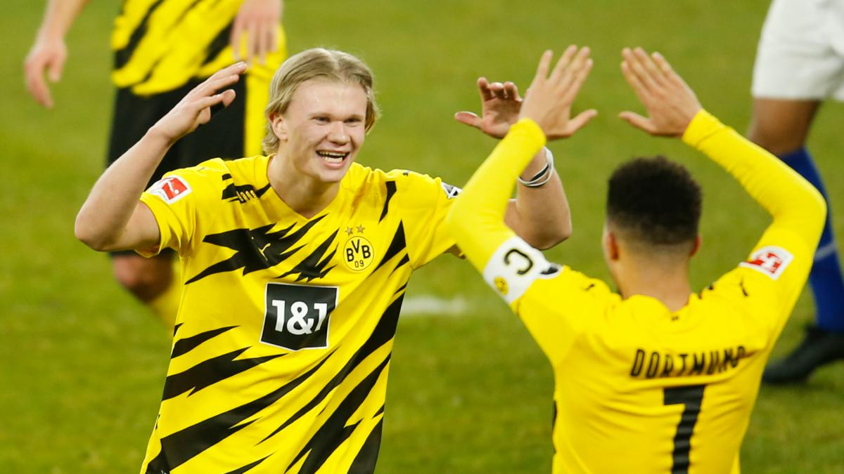 Sancho sets new Bundesliga record... but Haaland closing in after Dortmund double