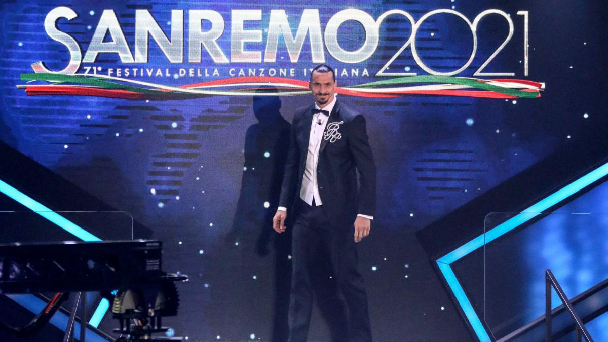 Zlatan Ibrahimovic makes Sanremo festival debut: I have been the best on this stage