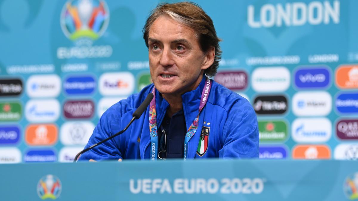 Coach Mancini praised Enrique before the semi-finals