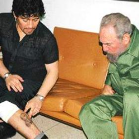 Maradona celebra con Fidel su 41 cumpleaños - AS.com