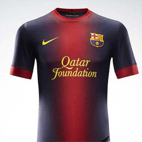 4668d03a974d8 El azulgrana se fusiona en la nueva camiseta del Barça - AS.com
