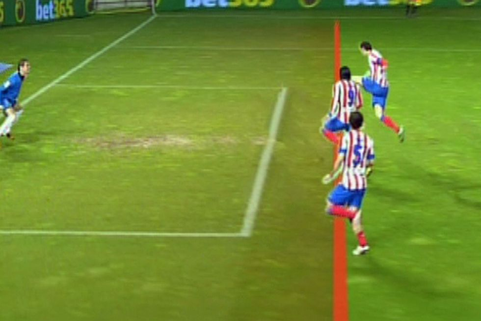 Liberovisi n demuestra que el gol de falcao fue fuera de for Balon fuera de juego