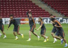 Entrenamiento del Real Madrid en Estambul