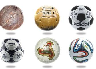 The evolution of the World Cup ball since 1930