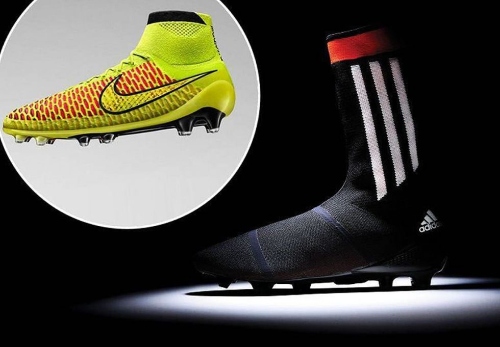 Llega una nueva moda al f tbol las botas con calcet n - Botas de seguridad madrid ...