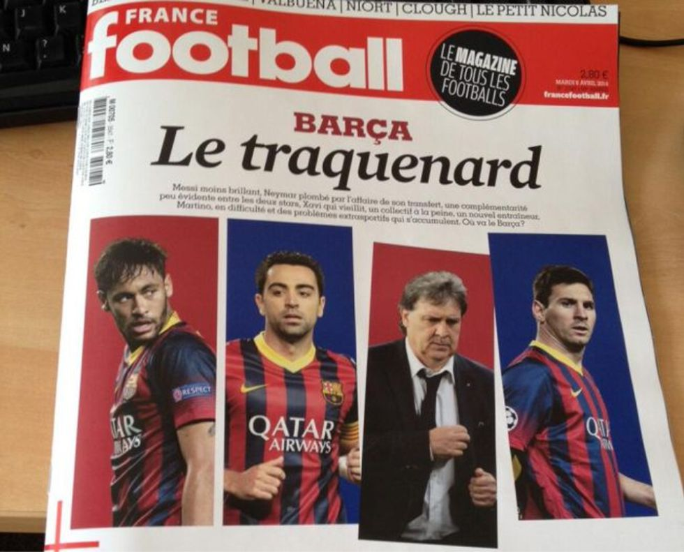 "'France Football': ""El Barça ha perdido su supremacía mundial"""