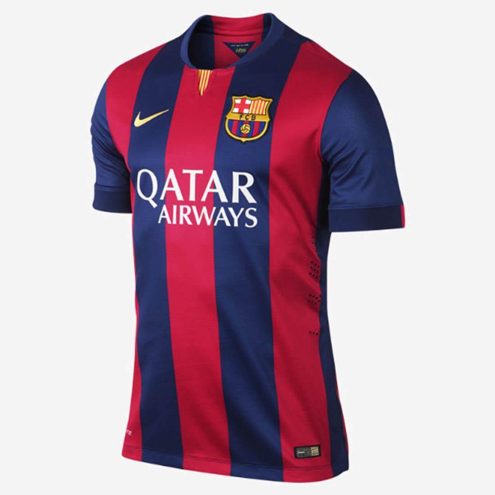 El Barça desvela la camiseta para la temporada 2014 15 - AS.com 537b7e89e87b4