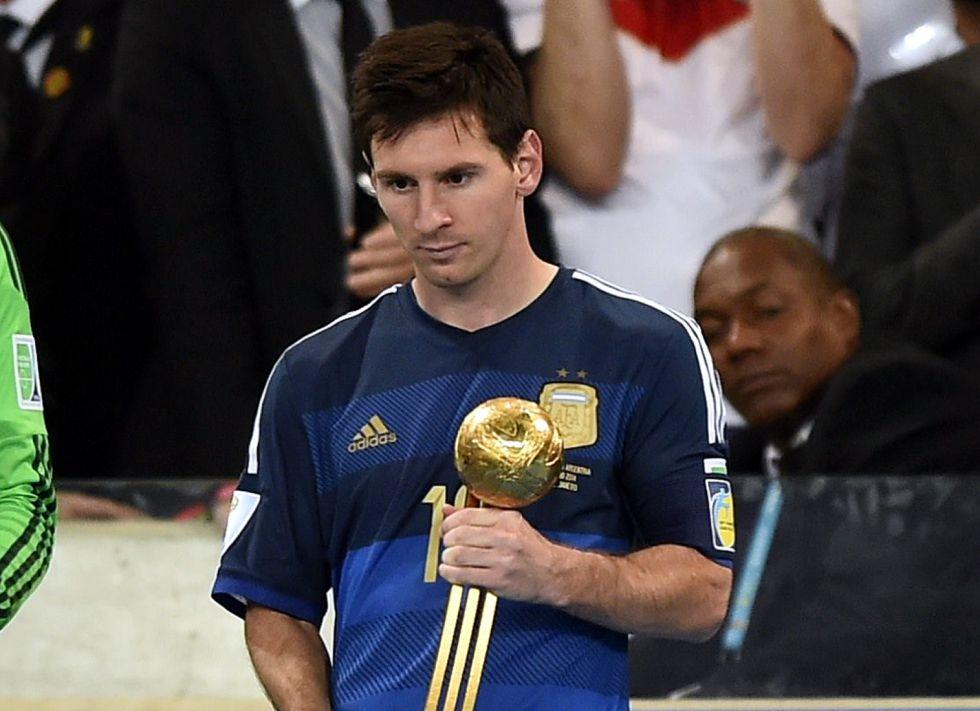 Resultado de imagen para messi balon de oro 2014 mundial