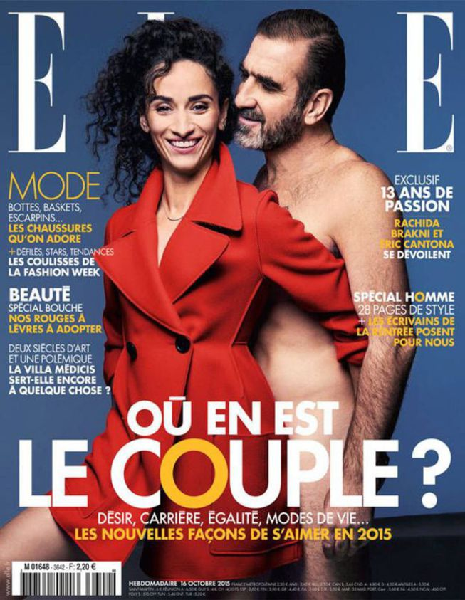 Eric Cantona posa desnudo en la portada de la revista Elle