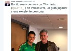 Chicharito and Ancelotti remembering the good ol' days