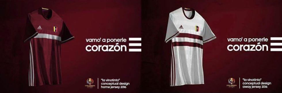 Posibles diseños de Adidas para la camiseta que lucirá Venezuela en la Copa  América. 228672666f3bf