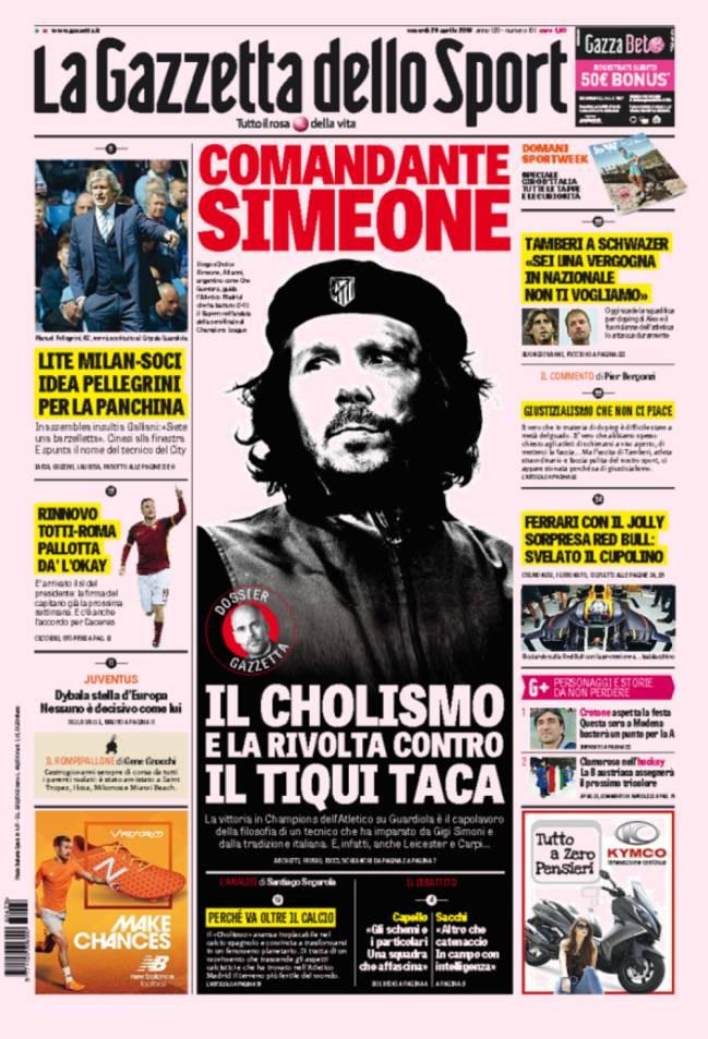 Atletico De Madrid La Gazzetta Dello Sport Presenta Al Comandante Simeone As Com