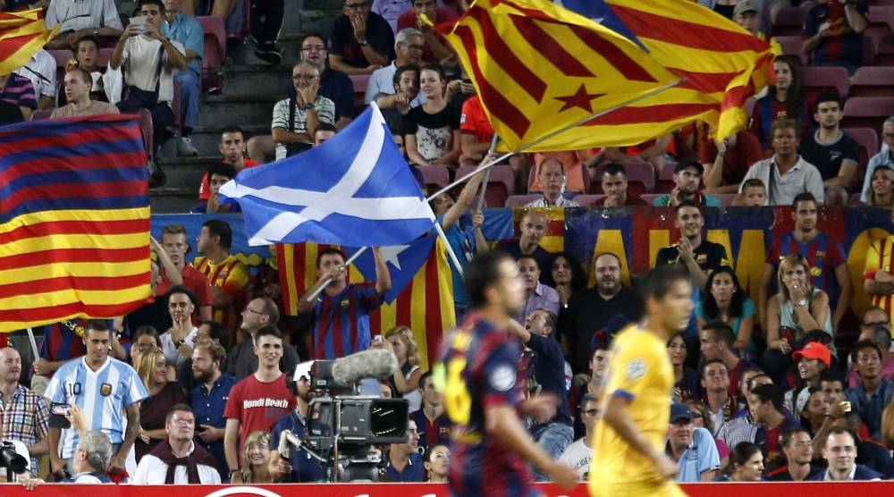Barcelona fans to use 10,000 Scottish flags after ban - AS.com