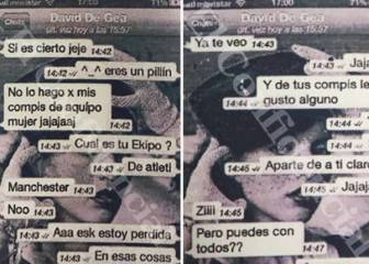 Read the messages between De Gea and the witness