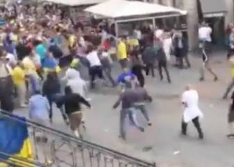 At least two injured as German fans attack group of Ukranians