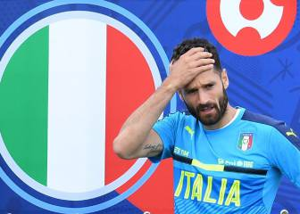 Candreva misses training and is doubtful for the Spain game
