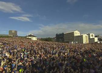 Incredible reception for Iceland's heroes in Reykjavik